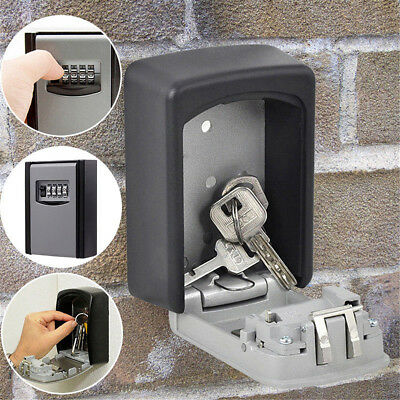 4 Digit Password Key Box Safety Hidden Lock Case Wall Mounted Padlock Realtor