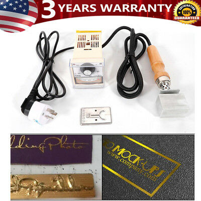Manual Embossing Machine Hot Foil Stamping Leather LOGO PVC Printer Embosser Kit