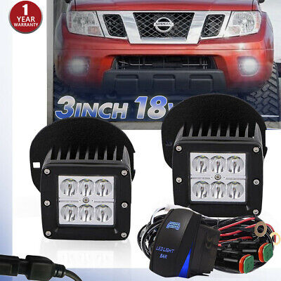 Lower Bumper LED Fog Light Kit w/ Midnight Black for Toyota Tundra Tacoma 46530
