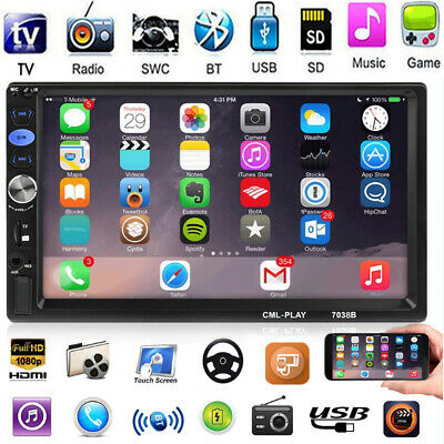 "2 Din 7"" Car Stereo Vedio MP3 MP5 Player Audio AM FM Radio MIrror Link Bluetooth"