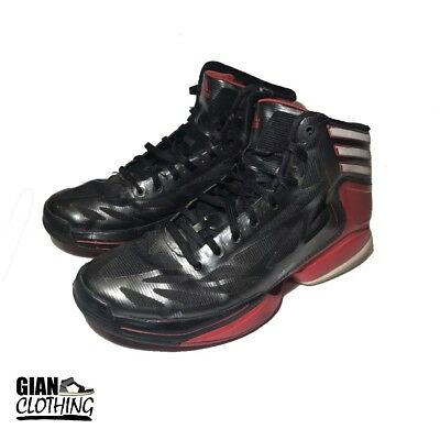 41ddcaa6fd9f9 Adidas Adizero Crazy Light 2 Mens Basketball Shoes Black Red G48787 Size 7.5