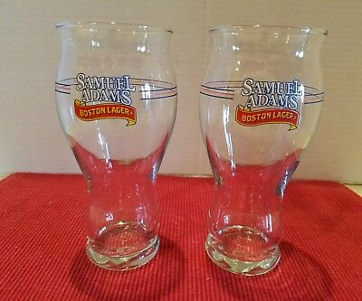 "Set of 2 SAMUEL ADAMS Boston Lager 16 oz Beer Glasses ""For The Love Of Beer"""