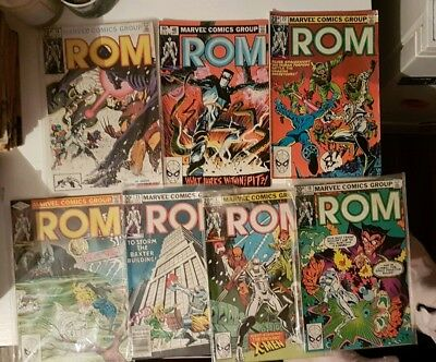 ,,ROM,, Published By Marvel Comics Group  7 Comic Books Bundle  In Excellent...