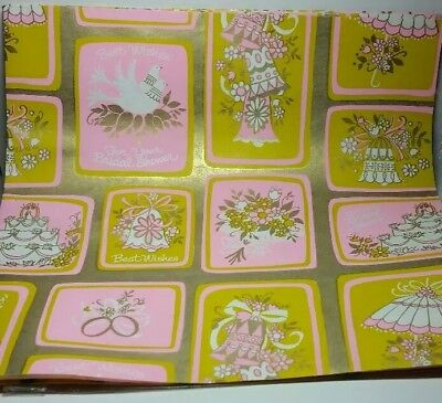 vintage wedding bridal shower gift wrapping paper scrapbook