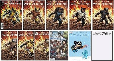 Return Of Wolverine #1 Pre-Order 11 Variant Cover Set X-Force, Aoa Weapon X 2018