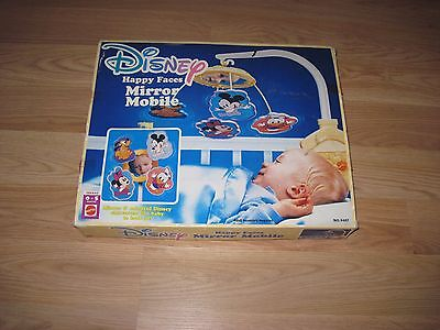 Vintage Mattel Disney Happy Faces Mirror Mobile/Mickey/Minnie Mouse/New In Box!