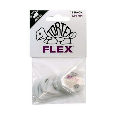 JIM DUNLOP - Tortex Flex Jazz III XL Guitar Pick Players Pack. 1.14mm.