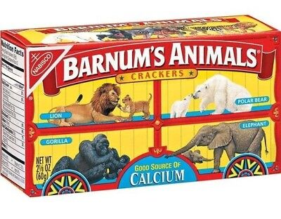 Barnum's Animals Crackers Discontinued Box With Cages Nabisco Unopened