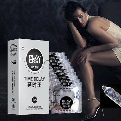 Delay King Assorted Premium Latex Condoms Extender Time 12 Count Natural Latex