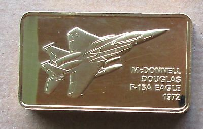 The Janes Medallic Register...mcdonnell  F-15A Eagle  Usa 1972....gold On Bronze
