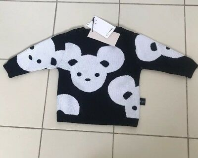 Huxbaby Mouse Knit Jumper Size 00 Size 3-6 Months BNWT