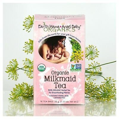 Lot Of 3 Boxes Earth Mama Angel Baby Organic Milkmaid Tea - 48 Tea Bags Total