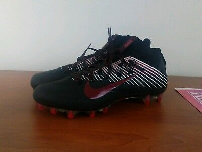 26b1d7f95ce Nike Vapor Untouchable 2 Football Cleat Men s Black Red 835646-001 Size 12