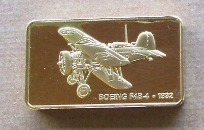 The Janes Medallic Register...boeing F4B-4   Usa 1932..Gold On Bronze