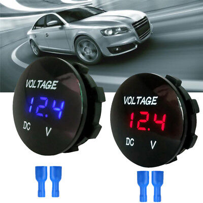 Waterproof CarBoat Motorcycle LED Panel Digital Voltage Meter Display Voltmet FB
