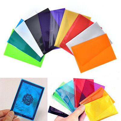 100xColorful Card Sleeves Cards Protector For Board Game Cards Magic Sleeves FB