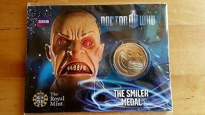 "2010 UK Royal Mint - Doctor Who Collectable ""THE SMILER MEDAL"""