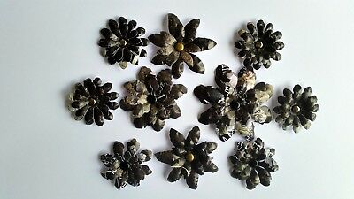 10 x Handmade 3D Die Cut Flowers #8 - Perfect for Scrapbooking,Cards