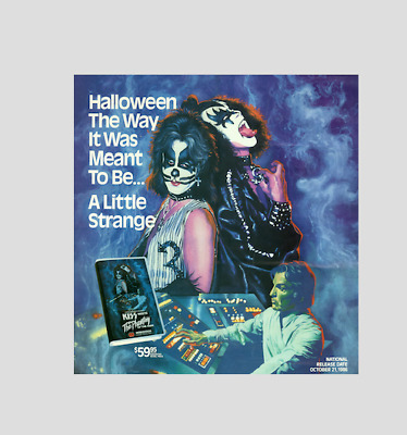 """KISS !! """"Advertising for VHS release , 1986 october """" !!"""