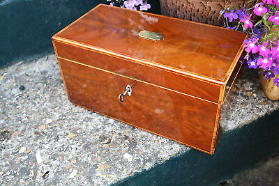 Georgian Antique Mahogany Tea Caddy / Antique Mahogany Box