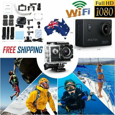 PICTEK Waterproof Ultra 4K HD 1080P WiFi DV Action Sports Video Camera Camcorder
