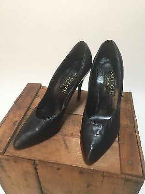 1d250c610 Vintage Adige Paris France Black Stiletto Heels Pumps Women s Size 8.5-Nice!