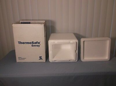 "Styrofoam Shipping Container and Box ThermoSafe 14 3/4"" X 9 1/8"" X 11 1/8"""