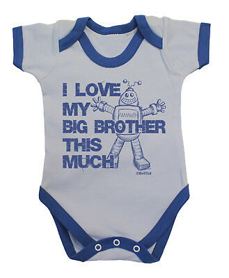 I LOVE MY BIG BROTHER THIS MUCH Funny Boys BabyGrow Bodysuit Vest Baby Clothing