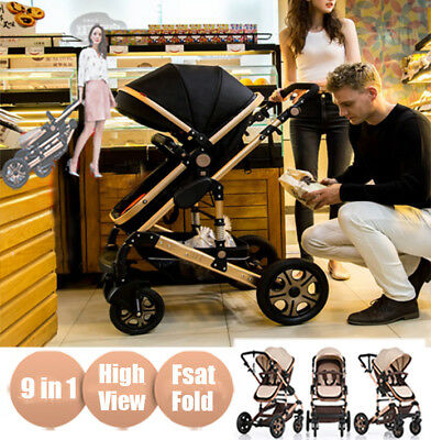 2018Baby Stroller Newborn Carriage Infant Travel Jogger Foldable Pram Pushchair