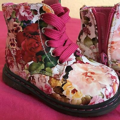 Floral Toddler Boots - Winter Shoes - Pink Flower - Size 5