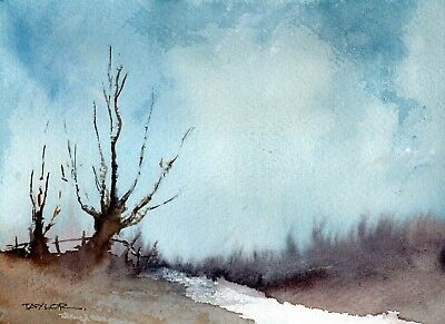 Original Watercolour Painting 'Pathway In Winter'