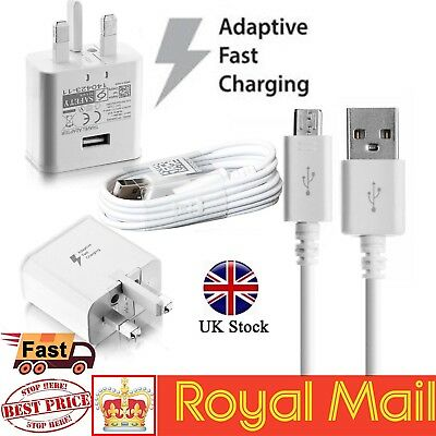Fast Charger Plug & Cable For Samsung Galaxy S7 Edge S6 S5 Note 4 5 A3 Genuine