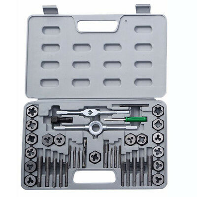40 Pcs Metric Tap And Die Set Wrench Cuts M3-M12 Bolts + Hard Case