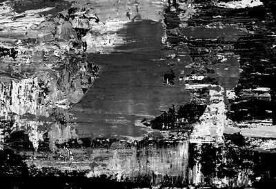 Abstract Black & White quality Painting Canvas Print wall art home decor