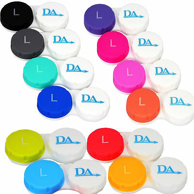 Contact Lens Case x 12 ~ Storage Set for Soft Lenses Travel Cases Colour Options