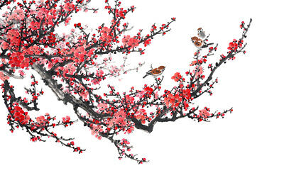 Plum Blossom Traditional Chinese Painting Canvas Print wall art home decor