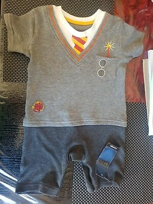 0fc2b5b3a49 Brand New George Baby Boy s Harry Potter Clothing Romper Short Set 2 To  Choose