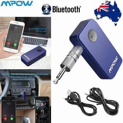 Mpow 3.5mm Wireless Bluetooth Car Phone AUX Audio Music Player Receiver Adapter