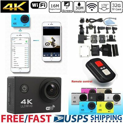 US SJ9000 4K WiFi Action Sport Camera Waterproof DV DVR Cam Camcorder HD 1080P
