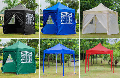 2m x 2m WATERPROOF Pop Up Gazebo Garden Outdoor Part Tent W/ 4 Sides Panels UK