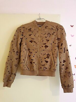 NEW with tags Women Bomber Jacket With Lace Size UK 4-6