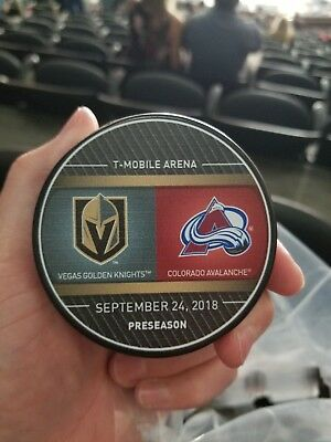 Vegas Golden Knights Colorado Avalanche Season 2 Preseason Game 2  Match Up Puck