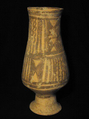 Ancient Large Size Teracotta Painted Vase Bronze Age 2500 BC NO RESERVE  #B389