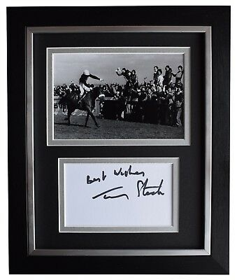 Tommy Stack Signed 10x8 Framed Photo Autograph Display Red Rum Grand National