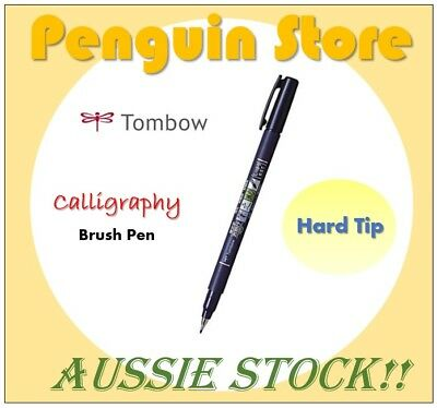 TOMBOW Fudenosuke Calligraphy Brush Pen Hard Tip, 1/2/3/5 Pens Set, Aussie Stock