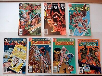Lot of 7 The Warlord DC Comics Issues # 46 72 75 78 79 80 & 83