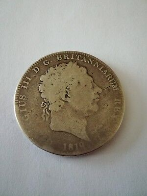 1819 George 111 Silver Crown Worn And Used