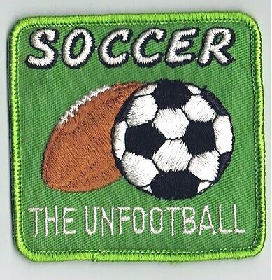"""Vintage Soccer The UnFootball 3"""" Embroidered Patch Advertising Sports Football"""