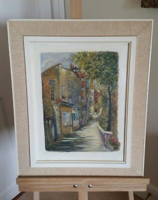 Church Walk, Kensington. Framed Original Acrylic/Oil Painting on Board.