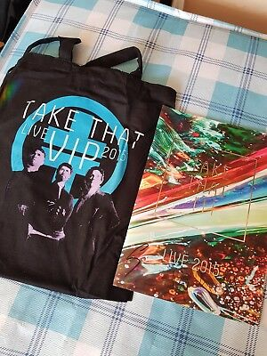 Take That Signed Iii / Live 2015 Programme + Vip Package Items  Gary Barlow